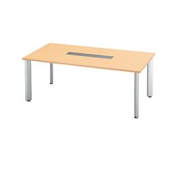 PLUS (プラス) 会議テーブル 長方形タイプ HL-180PR 【幅1800mm×奥行900mm×高さ700mm】【天板カラー: ホワイトメープル】
