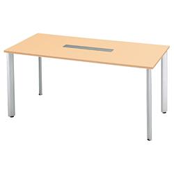 プラス 会議テーブル 長方形タイプ HL-210HPR 【幅2100mm×奥行1000mm×高さ1000mm】【天板カラー: ホワイトメープル】