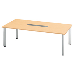 プラス 会議テーブル 長方形タイプ HL-210PR 【幅2100mm×奥行1000mm×高さ700mm】【天板カラー: ホワイトメープル】