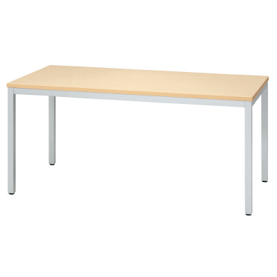 プラス ミーティングテーブル MT-A115 【幅1500mm×奥行800mm×高さ700mm】【天板カラー: ナチュラル】