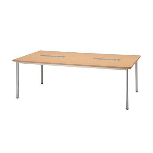 ジョインテックス ミーティングテーブル PJN2112 【幅2100mm×奥行1200mm×高さ700mm】【天板カラー: ナチュラル】