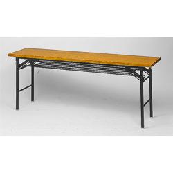 脚折りたたみテーブル 共貼りエッジ su_TK-1860-AT 【幅1800mm×奥行600mm×高さ700mm】【天板カラー: チーク】