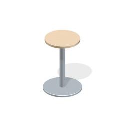 プラス 会議テーブル XF TYPE L (エクセフ タイプエル) XL-045C WM/M4 【丸テーブル型タイプ】【天板カラー:ホワイトメープル、脚カラー:シルバー】【直径450mm×高さ725mm】