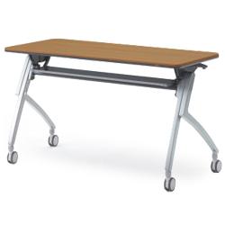 プラス フォールディングテーブル XT-420 【幕板なし・配線孔なしタイプ】【幅1200mm×奥行600mm×高さ720mm】