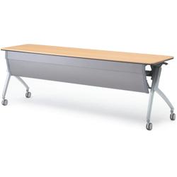 プラス フォールディングテーブル XT-720M 【幕板付・配線孔なしタイプ】【幅2100mm×奥行600mm×高さ720mm】