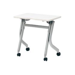 プラス フォールディングテーブル YJ-150 【幅700mm×奥行400mm×高さ700mm】【天板カラー: 2色】