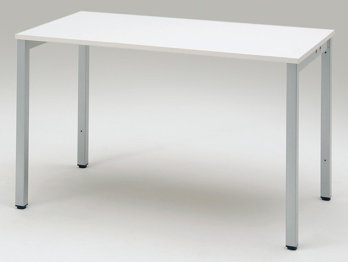 プラス フリーアドレスデスク Mulpose(マルポス) メインテーブル(シングルタイプ) ML-1265 【幅1200×奥行650×高さ720mm】【本体:シルバー】【天板:ホワイト】