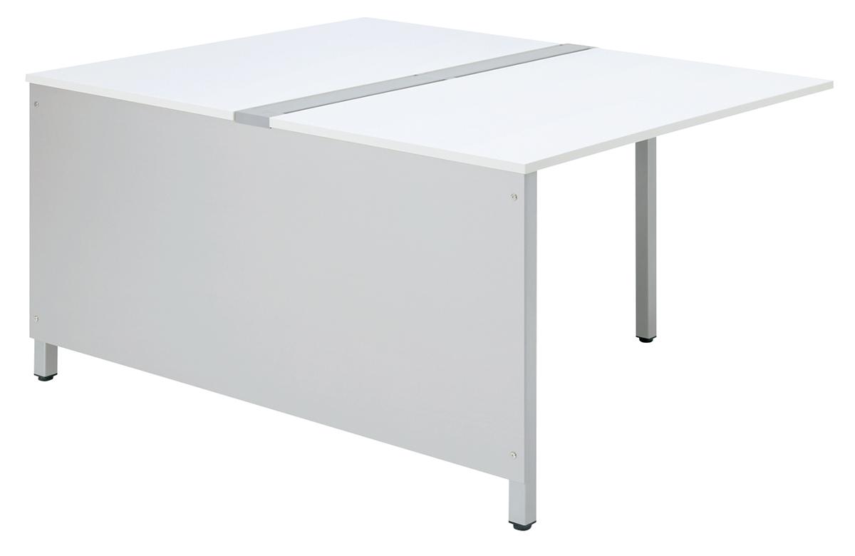 プラス フリーアドレスデスク Mulpose(マルポス) 側板 ML-G1400 【メインテーブル (標準タイプ) 用】 【幅1390×高さ600mm】【カラー:シルバー】
