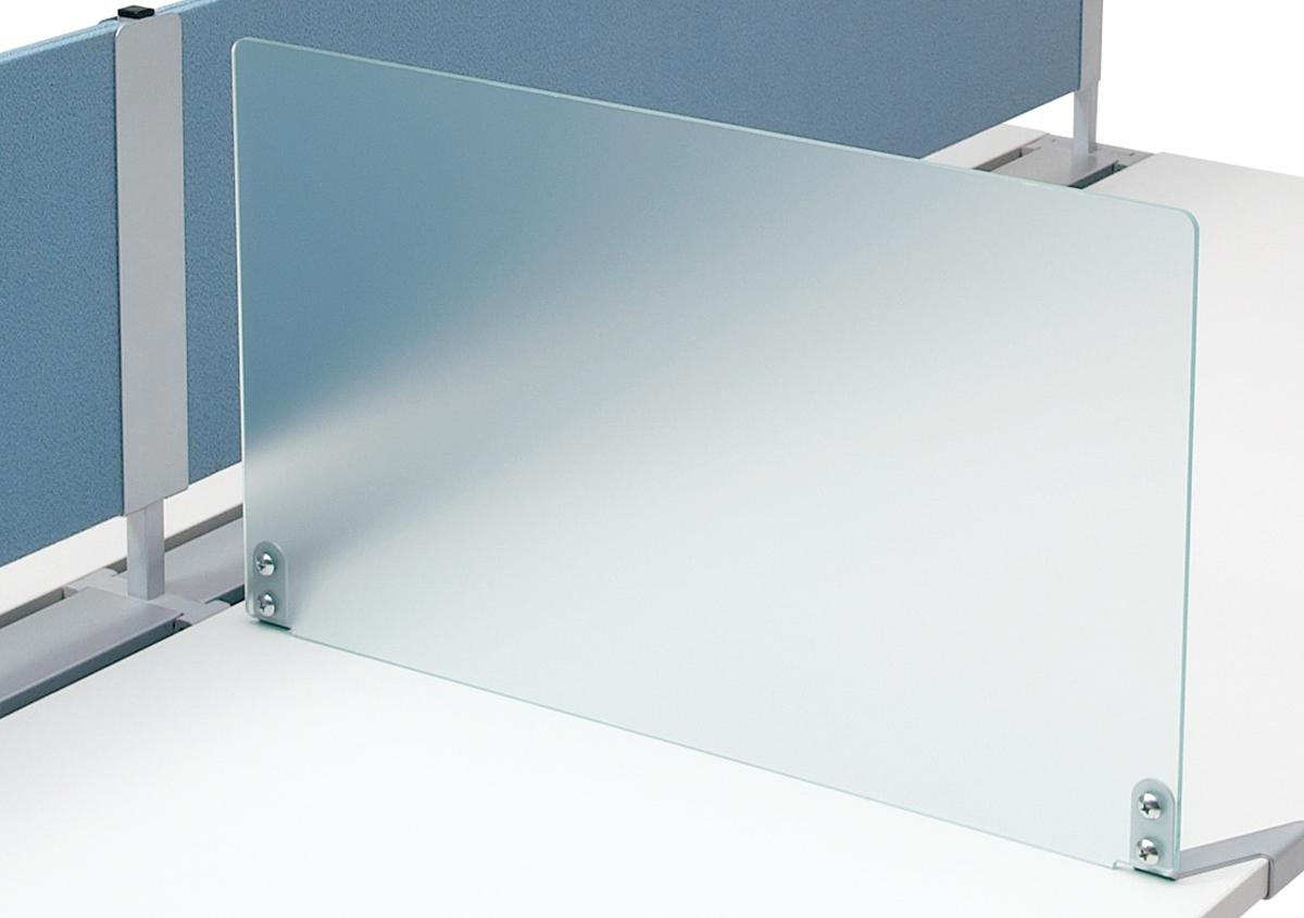 プラス フリーアドレスデスク Mulpose(マルポス) サイドスクリーン ML-SC06 【幅600×高さ350mm】【カラー: クリア】