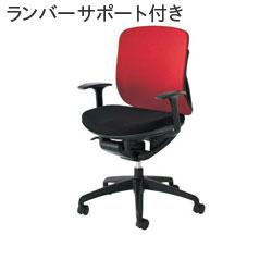 Inaba (イナバ) オフィスチェア yera (イエラ) クロスカバータイプ SV113 【ローバック】【T型肘】【ランバーサポート付き】【メッシュカラー: ブラック】【背面クロスカラー: 7色】