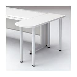 プラス スタンダードデスク US (ユーエス) サイドテーブル US-7DT-ST 【幅1200mm×奥行400mm×高さ720mm】【本体: ホワイト】【天板カラーは、3色から選択可能】