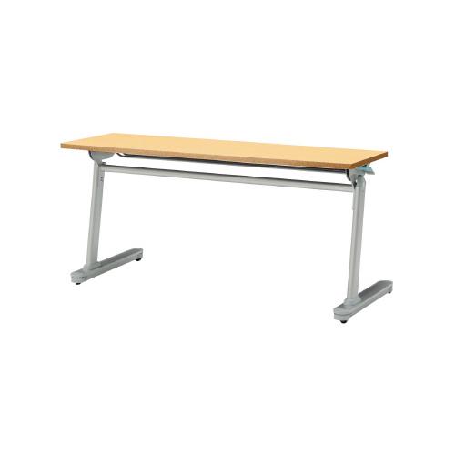 PLUS (プラス) フォールディングテーブル MF-J515 【幅1500mm×奥行450mm×高さ700mm】【幕板なし】【天板カラー: 3色】