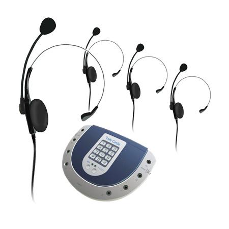 NEC ヘッドセット式電話会議端末 Tele Circle(テレサークル) MT-20A1 【ヘッドセット4本付属】