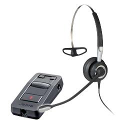 GN コード付ヘッドセット + 固定電話機/PC接続用アンプ Jabra BIZ 2400 II PACK 【片耳ヘッドセットとアンプのパック商品】