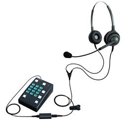 長塚電話工業所 ヘッドセット型電話機 ブレステル 両耳タイプ EN2-L(OG)-BR 【ヘッドセットカラーはオリーブグリーン】
