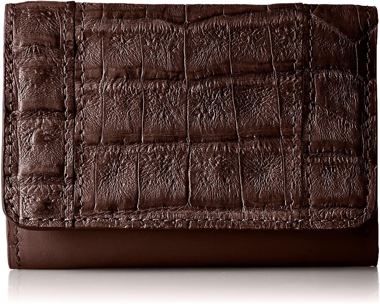 ROMEO GIGLI ロメオジリ ヘンローン社製 カイマンクロコダイル ワニ皮 コンパクト財布小型財布 ミニ財布 ビジネス カード収納 プレゼント ギフトに最適
