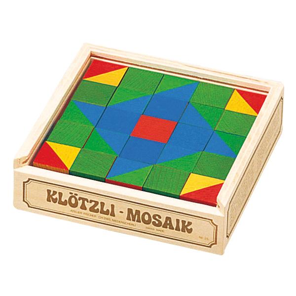 アトリエフィッシャー パズル キューブモザイク・25pcs AF3002 知育玩具 パズル 出産祝い 木製 おもちゃ 0歳 1歳 2歳 3歳 4歳 クリスマスプレゼント 子供 おもちゃ 知育 男の子 女の子 赤ちゃん 小学生