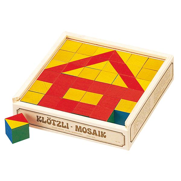 パズル 学習トイ アトリエフィッシャー パズル キューブモザイク・36pcs AF3003 知育パズル 知育玩具 知育 パズル 立体 立体パズル ジグソーパズル 幼児 木製 おもちゃ 木のおもちゃ 2歳 3歳 4歳 5歳 木製パズル 子供