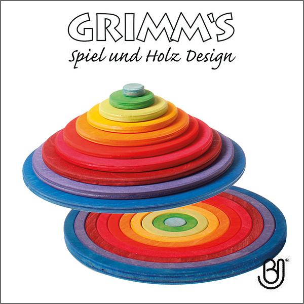 グリムス社 積み木 グリムス GRIMM'S 円盤とリング GM10677 知育玩具