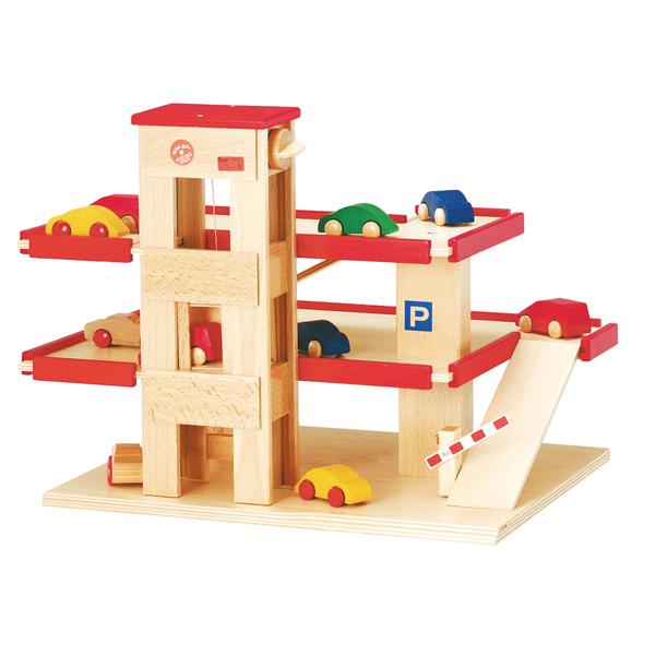 ベック ロードセット 立体駐車場 リフト付・赤 BE30000R 送料無料 知育玩具 おもちゃ 木製 ドイツ製 誕生日プレゼント 1歳 2歳 3歳 4歳 5歳 出産祝い 女の子 男の子 積み木 学習トイ 学習