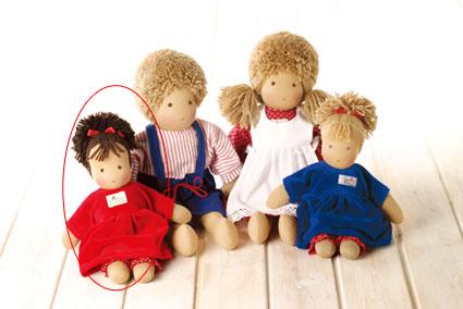 シルケ ロッテちゃん 赤 SI10930 送料無料 (着せ替え人形) 知育玩具 1歳 1歳半 2歳 3歳 4歳 おもちゃ 出産祝い 赤ちゃん 人形 学習トイ 学習 ごっこ遊び ままごと