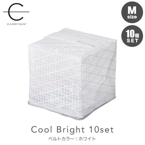 CARRY THE SUN キャリーザサン Medium ミディアム Cool Bright クールブライト ベルトカラー:ホワイト 10個セット CTSC-WHM 送料無料 ランタン 防災グッズ ソーラーランタン