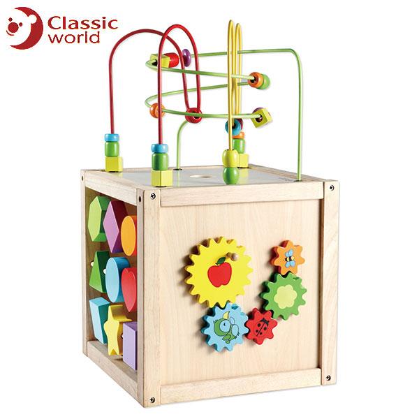 CLASSIC WORLD クラシック マルチアクティビティキューブ CL2885 送料無料 知育玩具