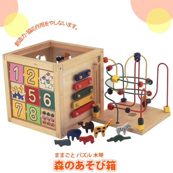 パズル 学習トイ エドインター 森のあそび箱 4941746806487 知育玩具 知育 パズル おもちゃ 木のおもちゃ 人気 知育パズル 1歳 1歳半 2歳 3歳 4歳 5歳 幼児 木製 誕生日プレゼント 男の子 女の子