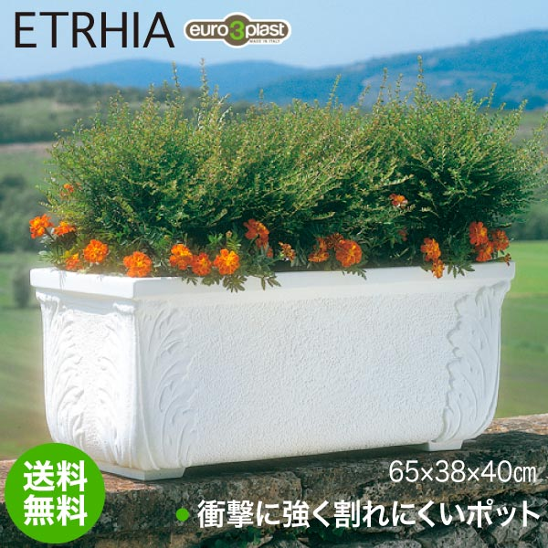 Euro 3 Plast Etrhia ユーロスリープラスト エトリア プランター 長角フォリエ65 ER-1741