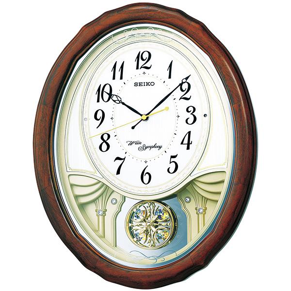 セイコー 正時メロディ電波掛時計 AM257B 093-T054 送料無料