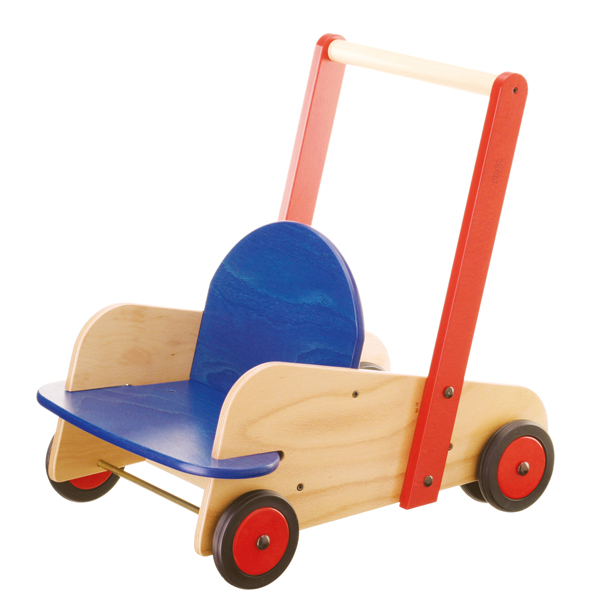 Old Product ハバ Haba Baby Carriage Walker Wagon Ha1646 Wooden Playing House Cognitive Education Toy