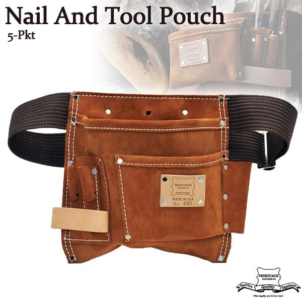 ヘリテージレザー Heritage Leather 5-Pkt Nail And Tool Pouch 腰袋 HL495
