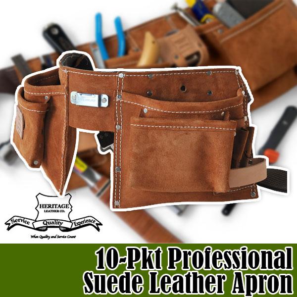 ヘリテージレザー Heritage Leather 10-Pkt Professional Suede Leather Apron 腰袋 HL491 送料無料