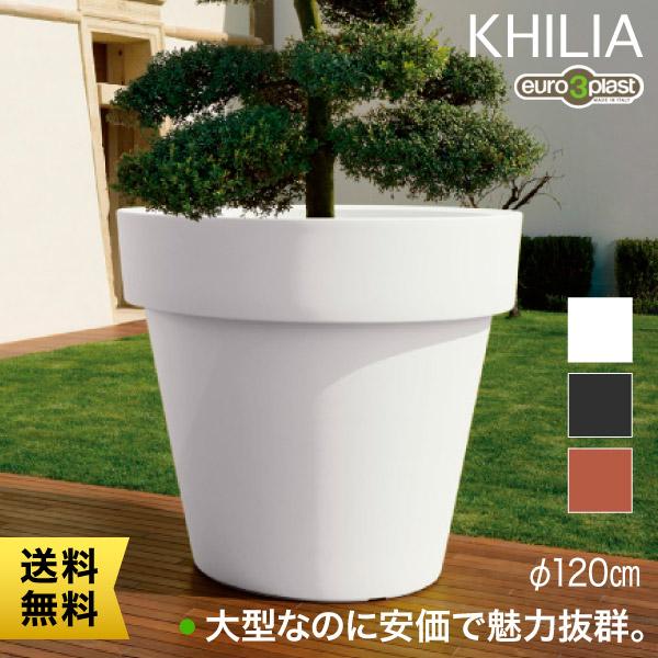 耐環境性に優れた定番フェイスのプランター Euro 3 Plast Khilia Ikon ユーロスリー・プラスト キリア プランター イコン120 ER-2543