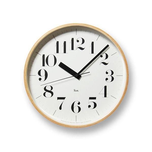 掛け時計 電波時計 おしゃれ レムノス Lemnos 掛け時計 リキクロック 電波時計 L 太字 RIKICLOCKL-f 送料無料
