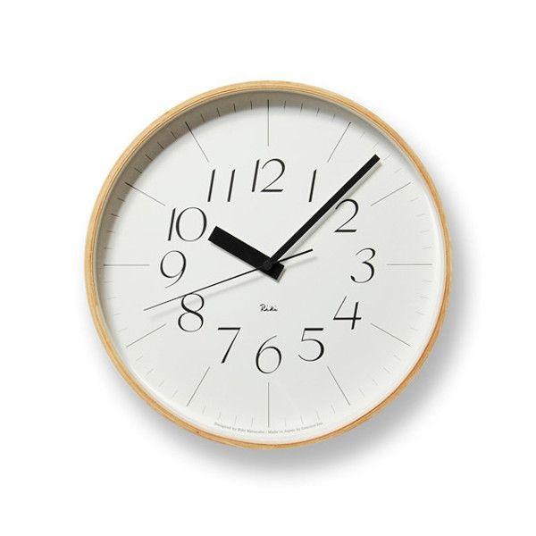 掛け時計 電波時計 おしゃれ レムノス Lemnos 掛け時計 リキクロック 電波時計 L 細字 RIKICLOCKL-h 送料無料