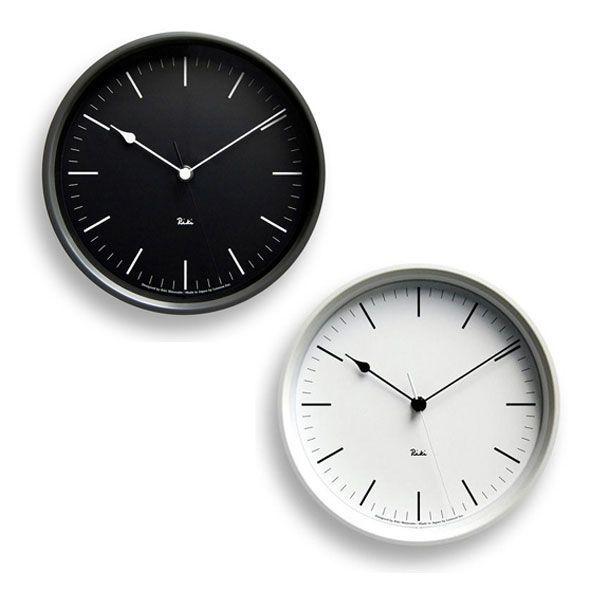 掛け時計 おしゃれ レムノス Lemnos 掛け時計 リキクロック スチールタイプ 棒指標 RIKISCLOCKbou-BK RIKISCLOCKbou-WH 送料無料