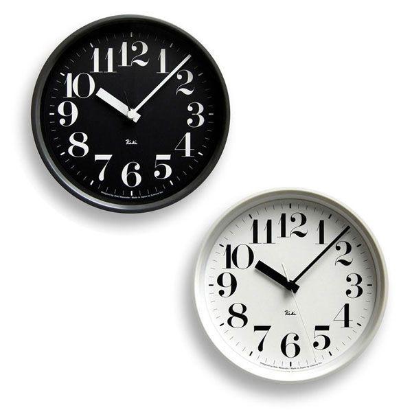 掛け時計 おしゃれ レムノス Lemnos 掛け時計 リキクロック スチールタイプ 数字指標 RIKISCLOCKsuuji-BK RIKISCLOCKsuuji-WH 送料無料