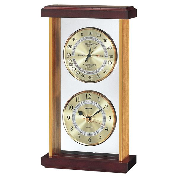 大切な方への贈答品として お返しやギフトに最適です エンペックス スーパーEX温 湿度 公式 時計 EX-742 ギフト トラスト お歳暮 贈り物 T22903 内祝い プレゼント お返し お中元