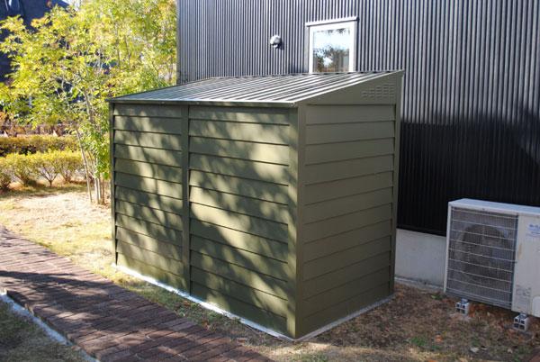 トライメタル メタルシェッド TM2 ペントルーフ オリーブグリーン D60TM2OG 送料無料