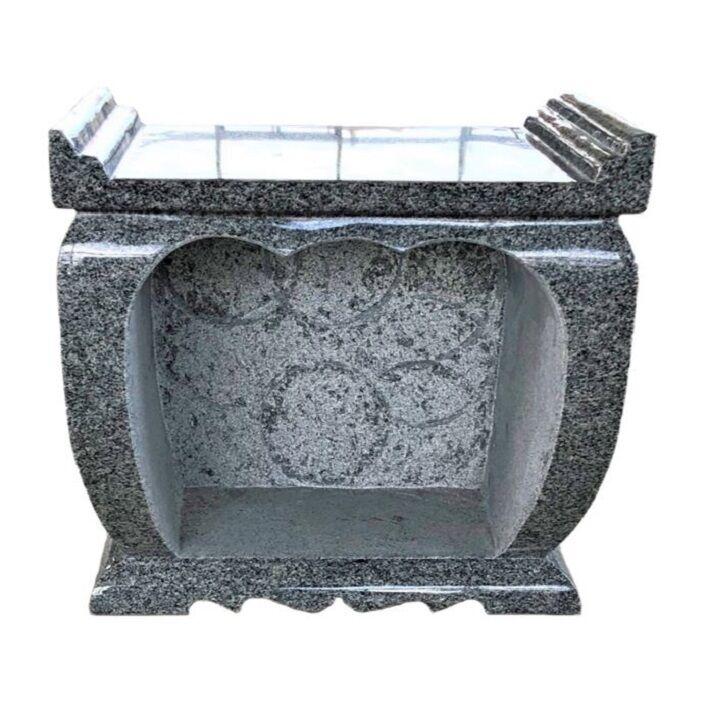 御影石の墓前用経机型き香炉 月間優良ショップ 御影石の経机型香炉 アウトレット品在庫処分 至上 数量限定品サイズH29cm 送料無料 一部地域を除く W29cm お墓 D21cm供物 経典