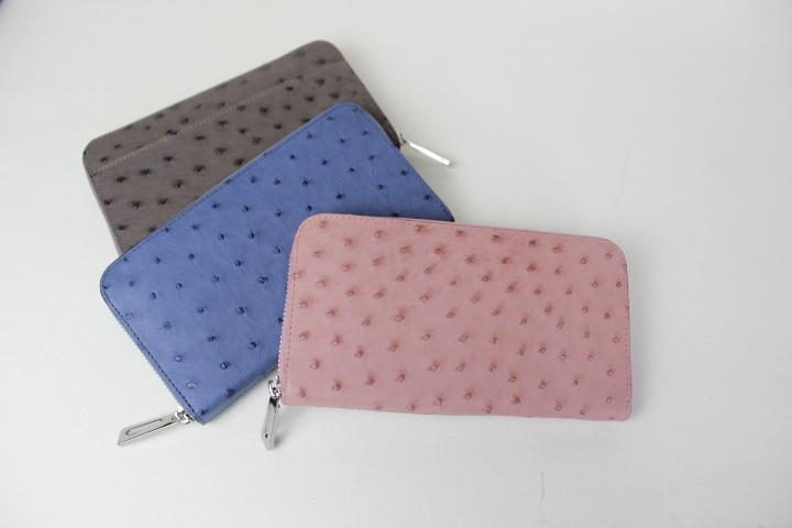 BK226 数量限定 オーストリッチ 長財布【送料無料】S.sakamoto サカモト 日本製