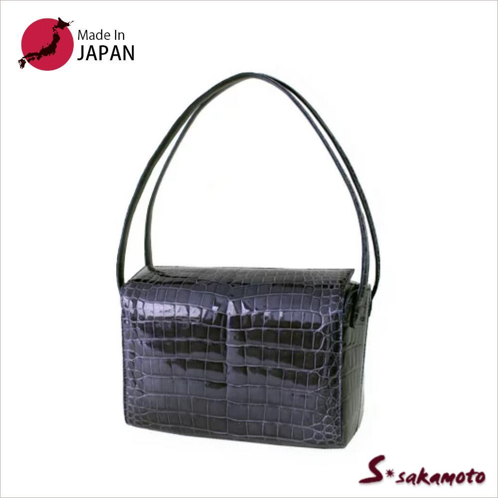 日本製 クロコダイルバッグ バッグ レディース フォーマル バッグ 送料無料 入学式  008875 シャイニングクロコダイルエレガントバック クロコダイルバッグ バッグ 小さめ