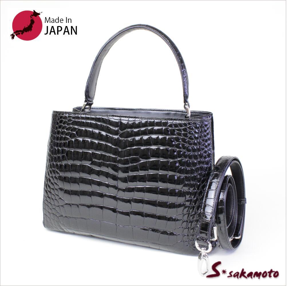 入学式 バッグ  シャイニングクロコダイルワンハンドルバック 008926日本製