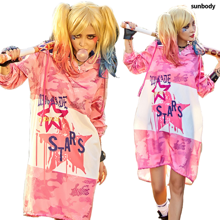 1118dddc56f1c 楽天市場 501105 ピンク迷彩柄 BIGフード付き 迷彩柄ダンス衣装 ダンス ...