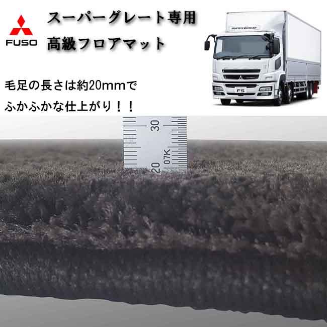 FUSO スーパーグレート専用 フロアマット 床マット コンソール テーブル 内装 トラック