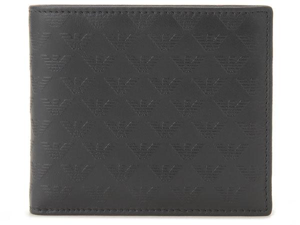 エンポリオ アルマーニ EMPORIO ARMANI 財布 二つ折り財布 YEM122 YC043 80001 ブラック メンズ財布 新品