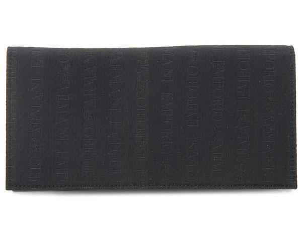 訳あり ほつれあり・箱破損(BOX不良) エンポリオ アルマーニ EMPORIO ARMANI 長財布 YEM474-YCF04-88001 NERO/ブラック メンズ財布 新品