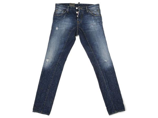 绑带 DSQUARED2 粗斜纹棉布 / 牛仔裤 S74LA0392-089-52 靛蓝新扭牛仔布