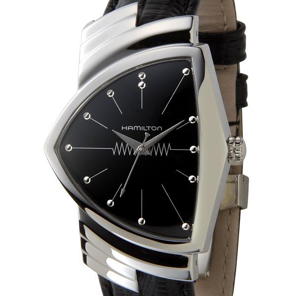 ハミルトン HAMILTON 腕時計 H24411732 ベンチュラ 文字盤:ブラック、ベルト:ブラック P5SP